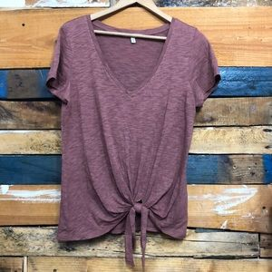 Express one eleven tie front t-shirt Sz M